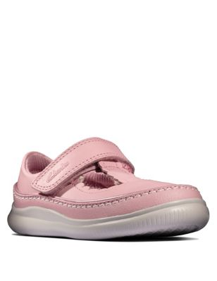 Baby Leather Riptape T-Bar Mary Jane Shoes (Toddler size 3-9.5)