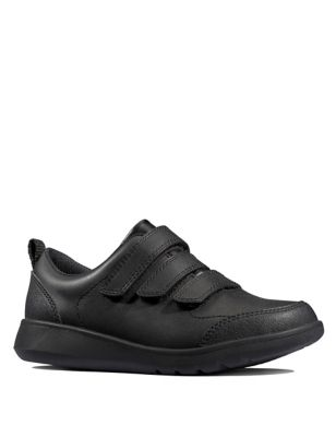 Kids' Leather Riptape School Shoes (Youth size 3-9.5)