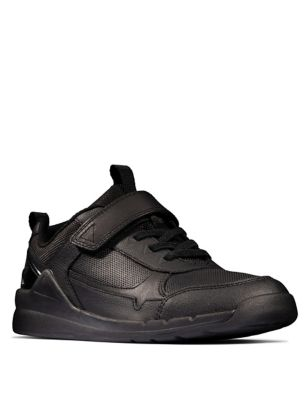 Kids' Leather Riptape Trainers (Youth size 3-8)