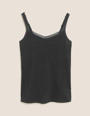 Lace Trim Vest with Secret Support™