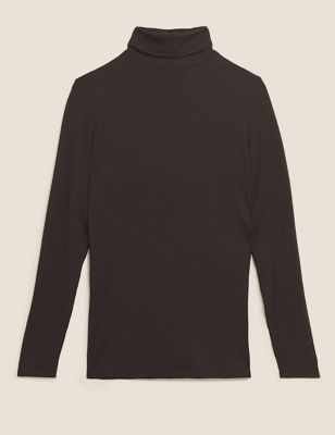 Heatgen™ Ribbed Polo Neck Thermal Top