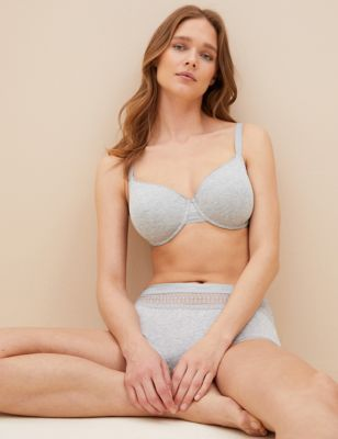 Cotton with Cool Comfort™ T-Shirt Bra A-E