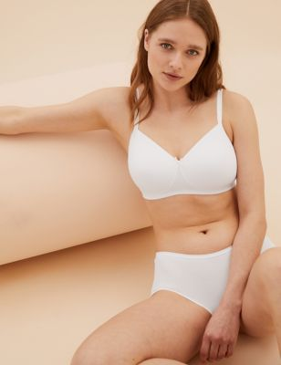 2pk Cotton Padded Full Cup Bras AA-D