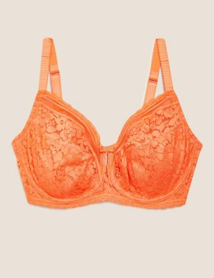 Cotton & Lace Underwired Full Cup Bra F-H