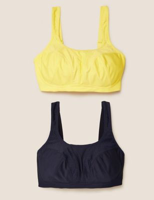 2pk High Impact Non-Wired Sports Bras A-H