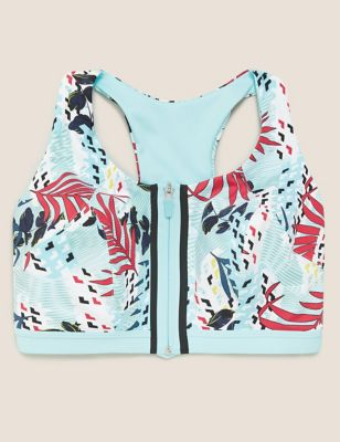 Extra High Impact Zip Front Sports  Bra F-H