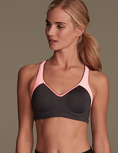 Breathable High Impact Underwired Padded Sports Bra A-DD | M&S