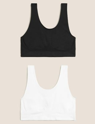 2pk Non-Wired Full Cup Seamfree Crop Tops