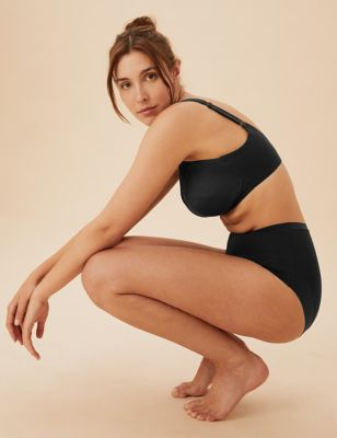 Cotton & Lace Non Wired Total Support Bra (B-H)