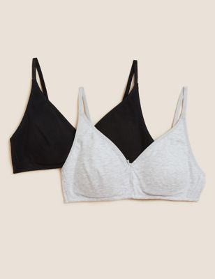 2pk Non-Wired Full Cup First  Bras A-D