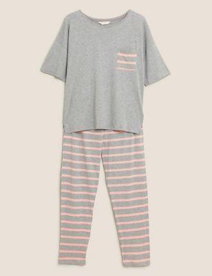 Cotton Stripe Pyjama Set