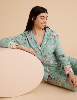 Floral Print Revere Pyjama Set