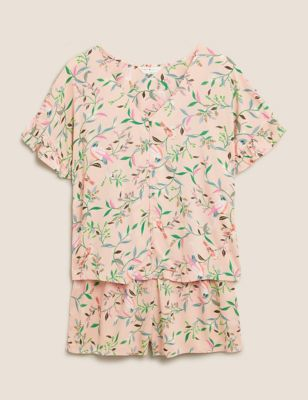 Floral Shortie Pyjama Set
