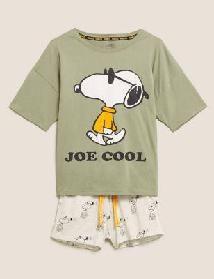Snoopy™ Print Cotton Short Pyjama Set