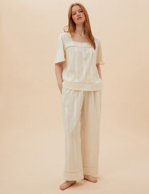 Cotton Lace Pyjama Set