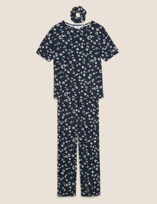 Viscose Animal Print Pyjama Set
