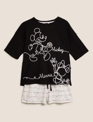 Mickey Mouse™ Print Cotton Short Pyjama Set
