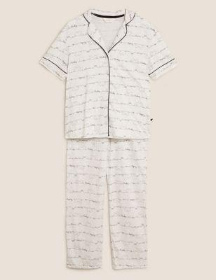 Mickey Mouse™ Print Cotton Revere Pyjama Set