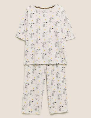 Snoopy™ Cotton Print Cropped Pyjama Set
