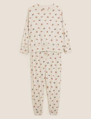 Cotton Rich Cat & Dog Print Pyjama Set