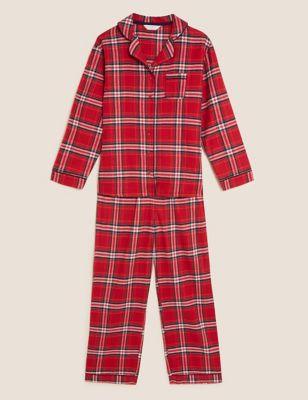 Women's Checked Family Pyjama Set