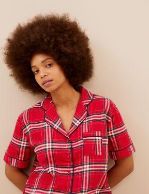 Women's Checked Family Short Pyjama Set