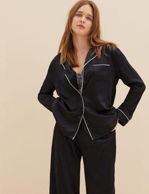 Satin Rever Collar Pyjama Set