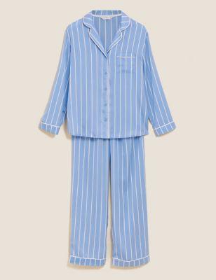 Dream Satin™ Striped Rever Pyjama Set