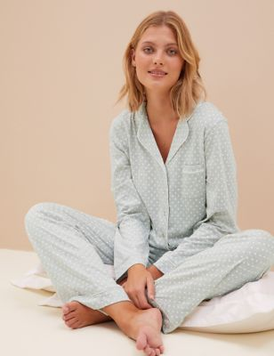 Cotton Modal Revere Collar Pyjama Set