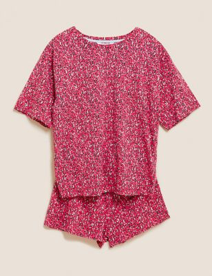 Cotton Animal Print Short Pyjama Set