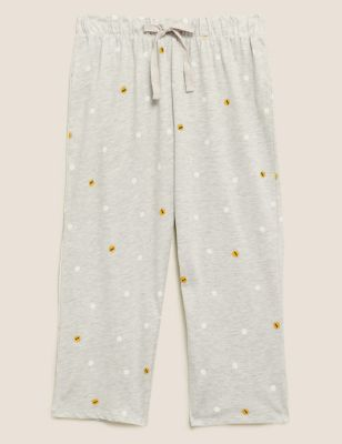 Cotton Rich Spot Cropped Pyjama Pant