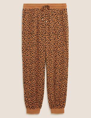 Cosy Knit Lounge Cheetah Cuff Joggers