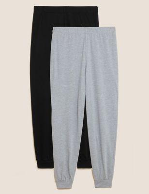 2 Pack Cotton Modal Jogger Pyjama Bottoms