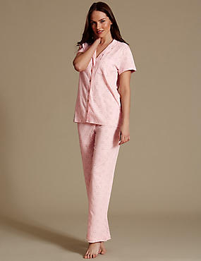 Daisy Print Pyjamas with Cool Comfort™ Technology, PINK MIX, catlanding
