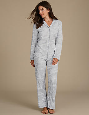 Printed Pyjamas with Cool Comfort™ Technology, GREY MIX, catlanding