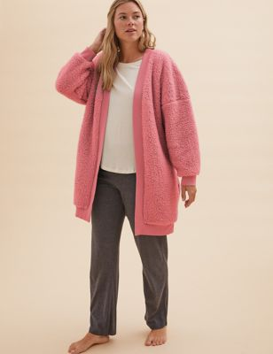 Teddy Edge To Edge Short Dressing Gown