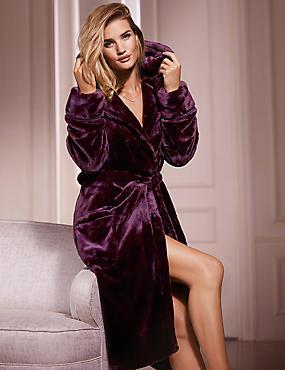 Shimmersoft™ Dressing Gown, AUBERGINE, catlanding