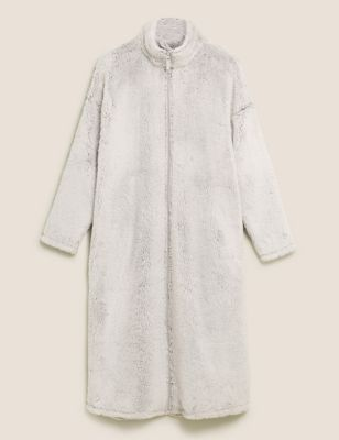 Fleece Zip Through Dressing Gown