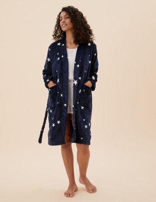 Fleece Star Print Wrap