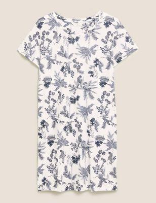 Cotton Modal Floral Short Nightdress