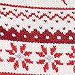 Fairisle Print Long Sleeve Pyjama Top, OATMEAL MIX, swatch