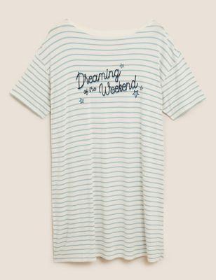 Dreaming of the Weekend Slogan Nightdress