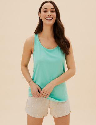 2pk Cotton Modal Pyjama Top