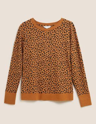 Cosy Knit Lounge Cheetah Sweatshirt