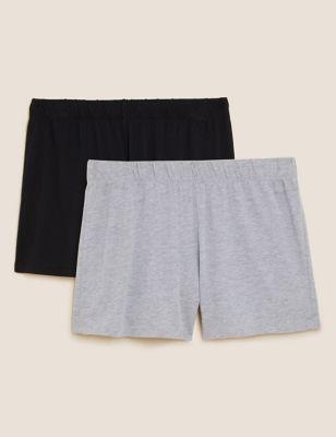 2 Pack Cotton Modal Pyjama Shorts