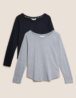 2 Pack Body Cotton Modal Pyjama Top