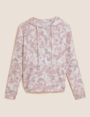 Cosy Knit Lounge Camouflaged Hoodie