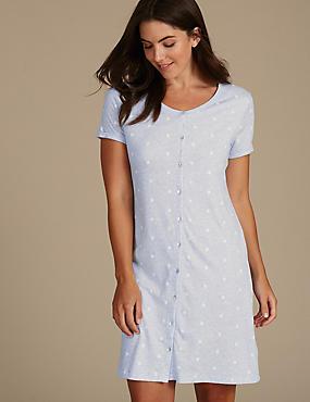 Daisy Print Nightdress with Cool Comfort™ Technology, BLUE MIX, catlanding