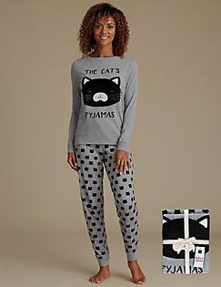 00f11158e72d Cotton Rich Animal Print Pyjamas