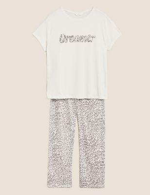 Pure Cotton Animal Print Pyjama Set